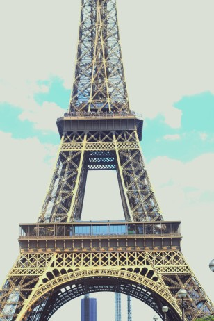 Photo Taken of the Eiffel Tower in Paris at Sunset // August 2013