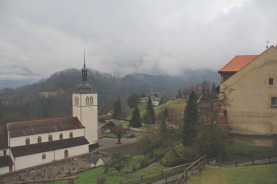 Watching the clouds roll in from the castle in Gruyere.