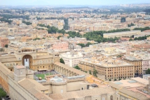Birds eye view of Rome