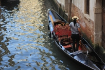 In Venice, the main point of transportation is either walking or boats