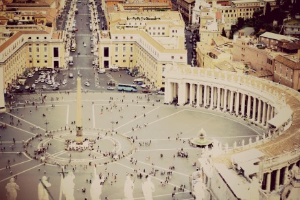Photo of the Vatican City from the Cupola of the Cathedral // August 2012