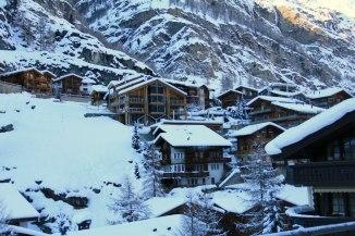 Snow capped village