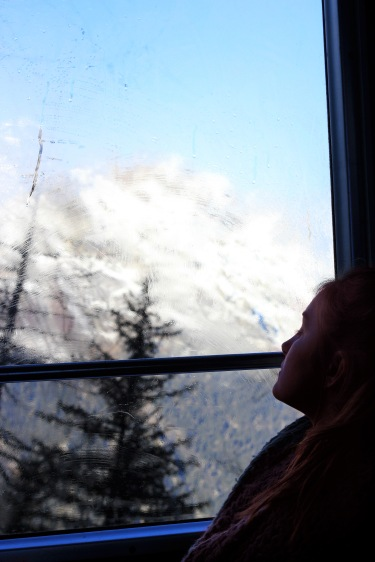 One of the passengers on the train to the ice caves.