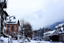 A photo of the beautiful hotels in Chamonix.