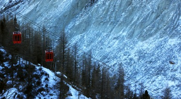The gondolas for the ice caves