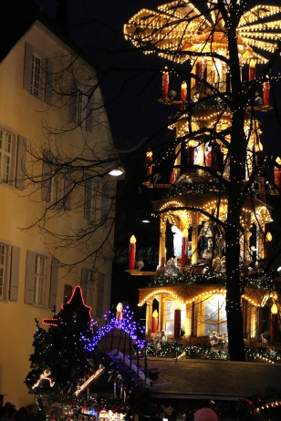 One of the large displays at the Basel christmas markets.